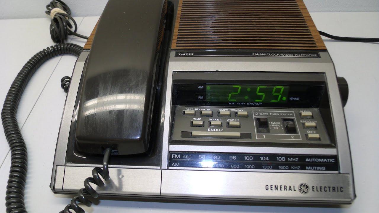 Retro Ge Alarm Clock Radio Telephone
