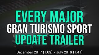 All Gran Turismo Sport Content Update Trailers (+ Song Titles) - Dec. 2017 (1.09) ➝ Jul. 2019 (1.41)