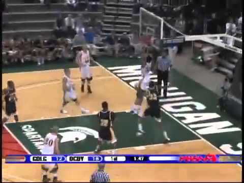 Jon Horford of Grand Ledge High School with another big dunk