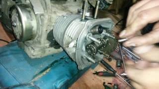 Ремонт двигателя скутера 157QMJ Jialing martian 150cc