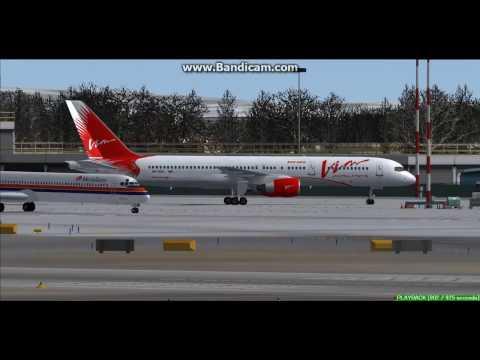 VIM Airlines B757 Verona Airport LIPX Landing FS9