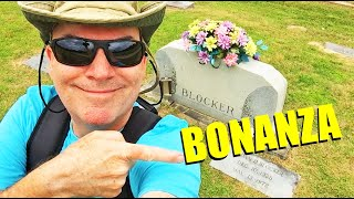 FAMOUS GRAVES-Visiting The Cast Of Bonanza-DAN BLOCKER, MICHAEL LANDON & LORNE GREEN