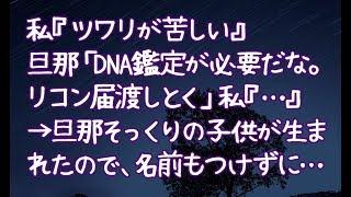 【修羅場】私『ツワリが苦しい』旦那「DNA鑑定が必要だな。リコン届渡しとく」私『…』→旦那そっくりの子供が生まれたので、名前もつけずに…