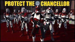 Fox's Coruscant Guard Clones Protect the Senate! - Men of War: Star Wars Mod Battle Simulator
