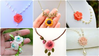 Beautiful Hand Made Floral Pandants For Casual And Formal Wear |Hand Made Gift Ideas For Girls