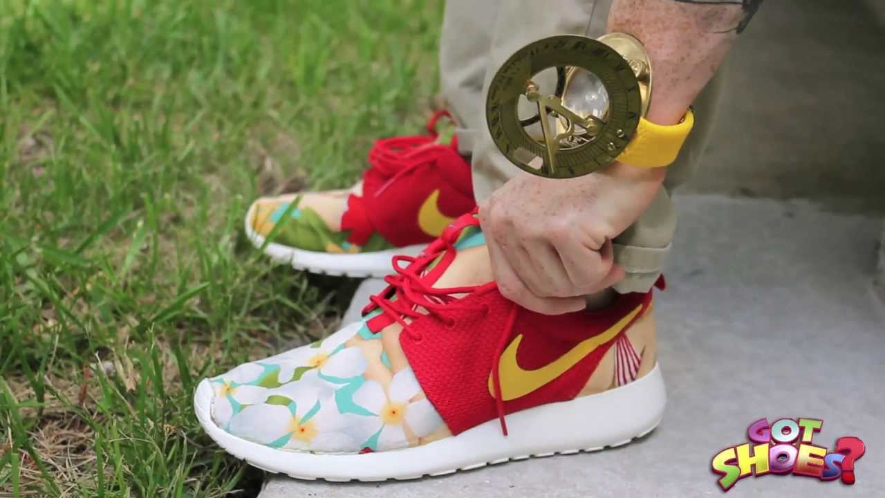 new style 51001 001cb Nike Roshe Run Island Girl Customs  On Feet of the Week Ep3  - YouTube