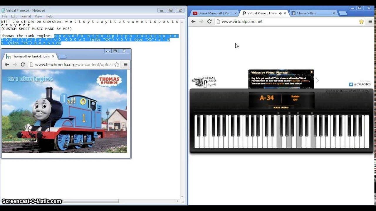 Friends virtual piano