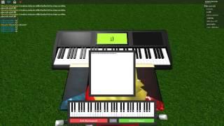 Jouer ne me laisse pas tomber sur le piano roblox!!! Xd