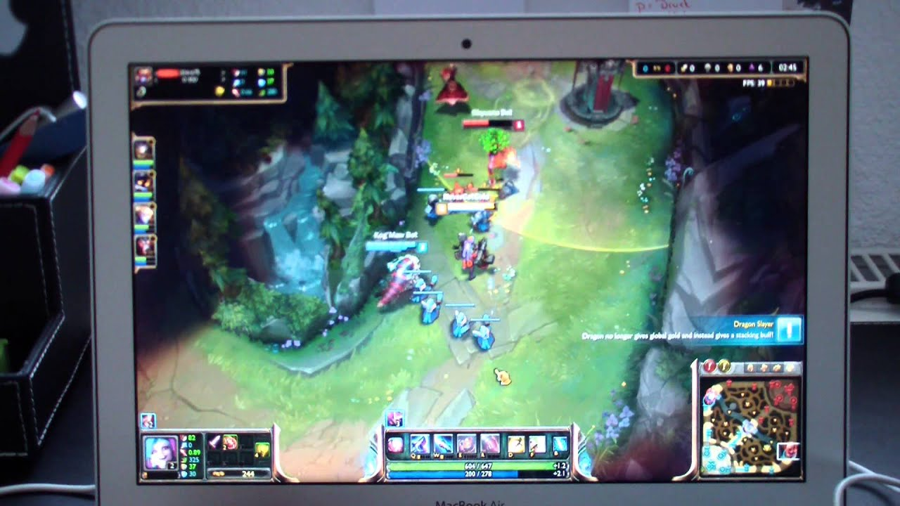 MacBook Air 13   League of Legends Test  2014 2015    YouTube