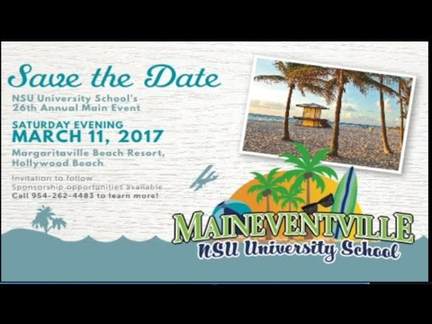 Save the Date for NSU University School's Main Event