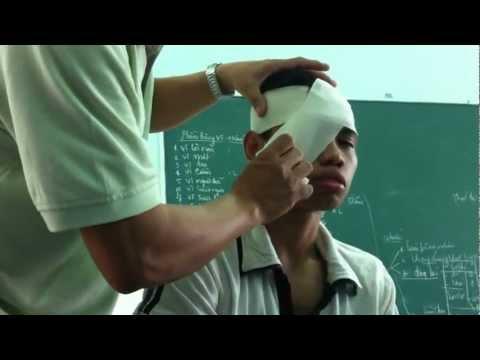 Hướng dẫn băng vết thương ở mắt