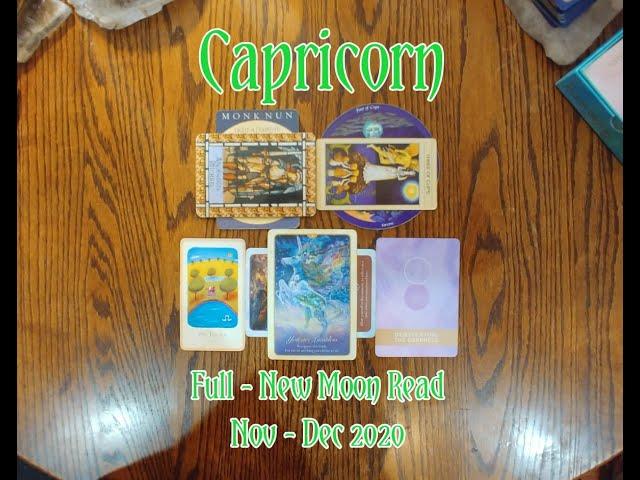 CAPRICORN: FULL - NEW MOON 7 CARD DRAW=ARCHANGEL MICHAEL+LOVERS+DEMYSTIFYING DARKNESS + NOV-DEC 2020