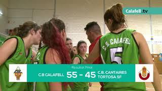Calafell Esportiu | C.B. Calafell 55 - 45 C.B. Cantaires Tortosa SF