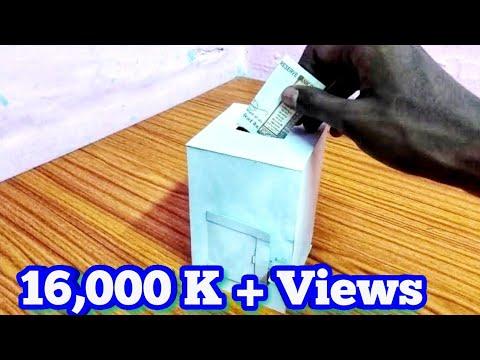 How to make mini saving money box ||ALEX CREATIONS ||