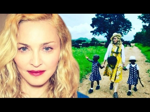 Madonna Confirms Adoption of twin girls from Malawi, Shares Photo of Twin Girls