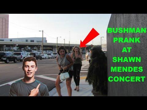 BUSHMAN  PRANK AT SHAWN MENDES CONCERT