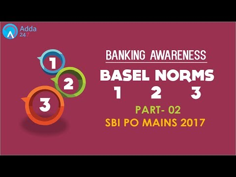 Banking Awareness | BASEL NORMS 1 2 3 (P-2) | SBI PO MAINS | Online Coaching for SBI IBPS Bank PO