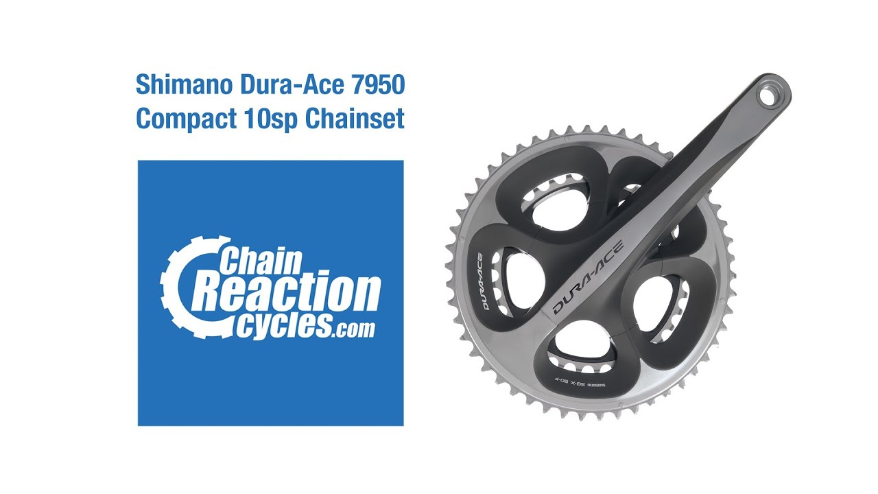 57db11bc034 Shimano Dura-Ace 7950 Compact 10sp Chainset - YouTube