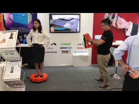 Scanning with Thor3D at VIETNAM INDUSTRIAL AND MANUFACTURING FAIR 2017