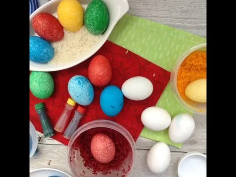 How To Dye Easter Eggs With Rice No Mess