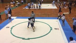 始めてのわんぱく相撲大会に参加!6年生にもなるとなかなか勝たせてはく...