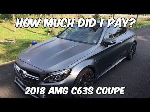 How Much Did I Pay For My 2018 C63s Coupe?