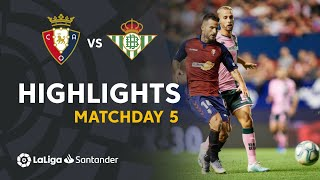 Highlights CA Osasuna vs Real Betis (0-0)