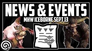 NEWS & EVENTS - Rajang Release Date - Capcom's DLC Roadmap (stream link) | MHW Iceborne