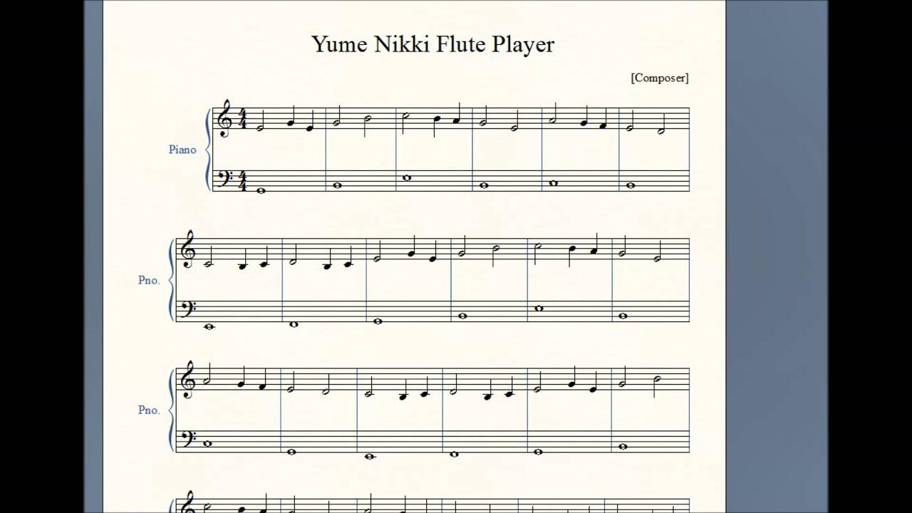【Yume Nikki】 Flute Player 【Midi+Sheet download】 - YouTube