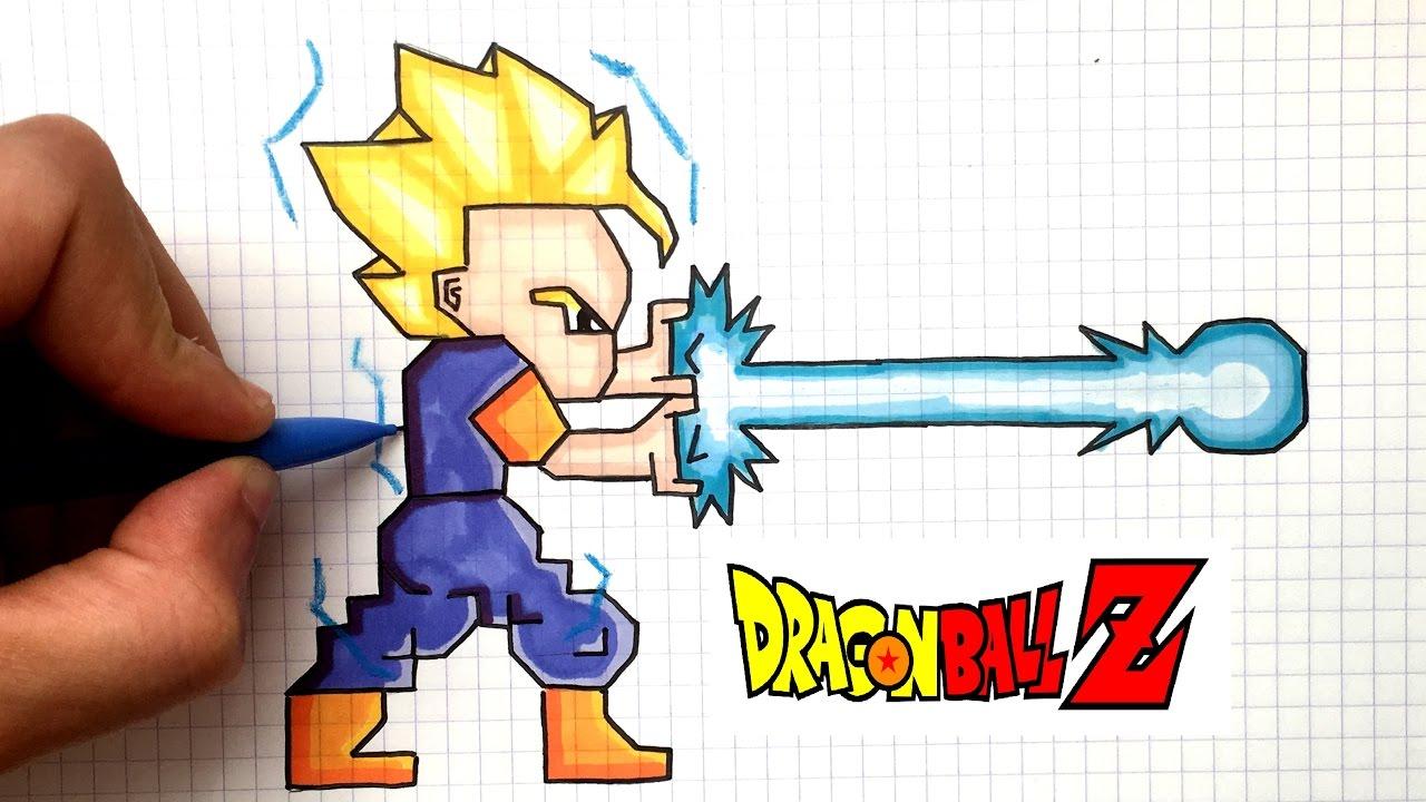 Draw Gohan Ssj 2 Pixel Art Dbz