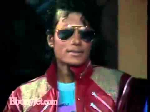 "Michael Jackson ""Beat It"" Ebony Jet Interview"