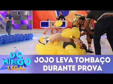 Jojo Todynho leva tombaço durante prova | Domingo Legal (08/04/18)