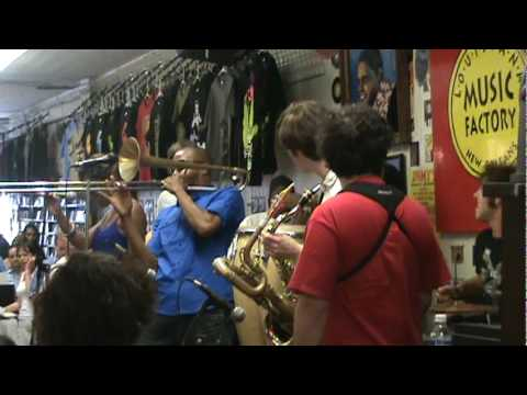 Trombone Shorty and Orleans Ave.performing 'Backatown' at Louisiana Music Factory