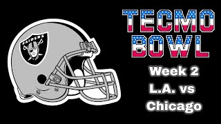 Tecmo Bowl NES - Week 2: L.A. vs. Chicago