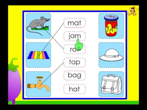 Kindergarten - words with the short vowel sound a - phonics - YouTube