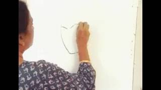 Whatsapp video... Drawing of God Krishna