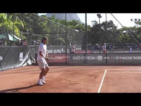 Rio open 2014 entrenamiento de Rafael Nadal