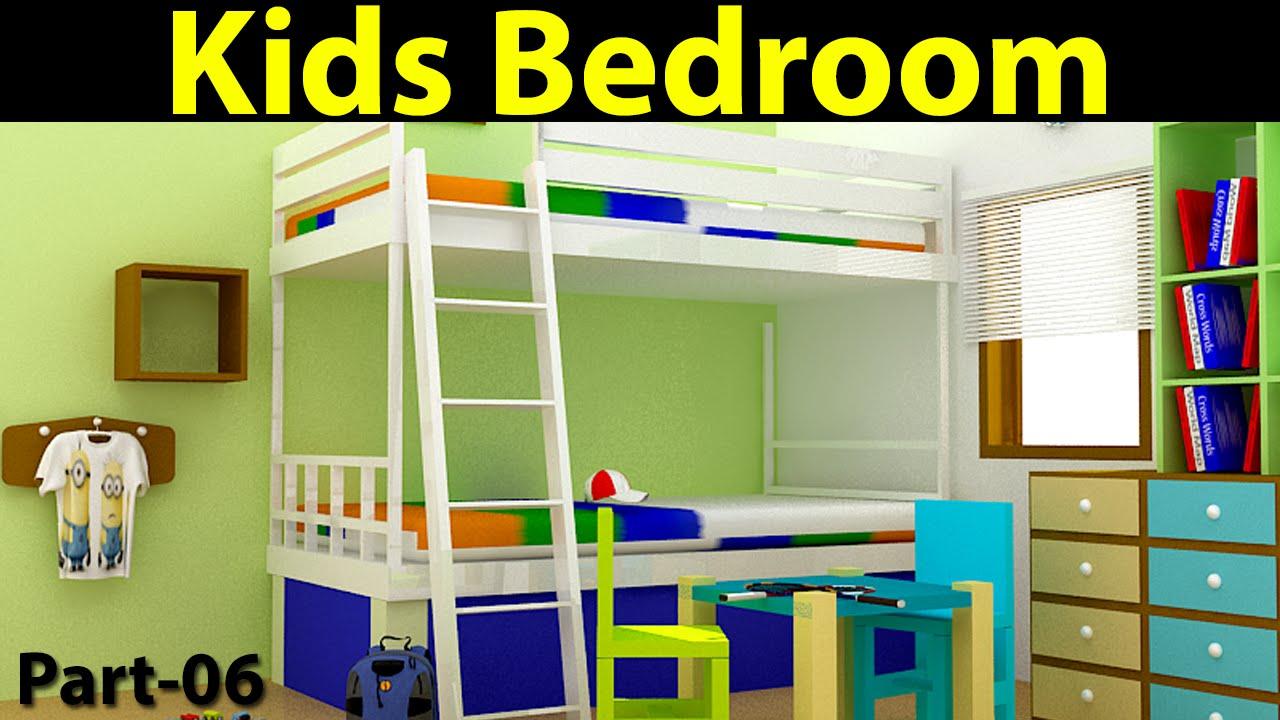 Kids Bedroom Design In 3d Max Part 06 Youtube