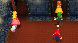 Mario Party 9 - Minigames - Luigi vs Peach vs Mario vs Daisy