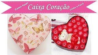 Caixa Coração em Cartonagem Fácil e linda