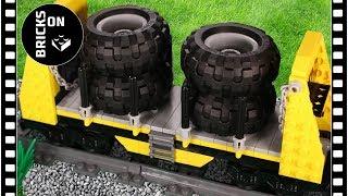How to build Lego Bulkhead Freight Rail Car Wagon Building Instructions Lego Trains MOC 2018
