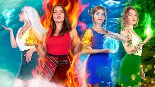 Девушка-огонь, вода, воздух и земля! / 4 стихии в походе!