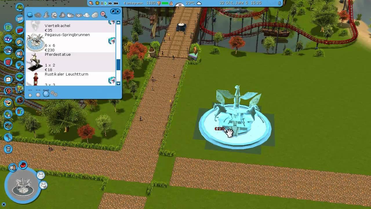 Let´s Bau Einen RCT3 Park #021 Der Brunnen