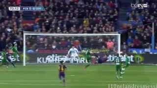 Luis Suárez Bicycle Kick Goal - 2015 FC Barcelona vs Levante 5-0 - English Commentary - Ray Hudson