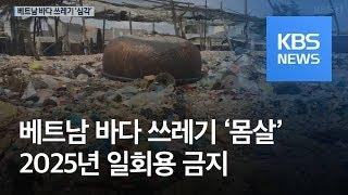 [지금 세계는] 베트남 해안 덮친 플라스틱 쓰레기…자정 노력은? / KBS뉴스(News)