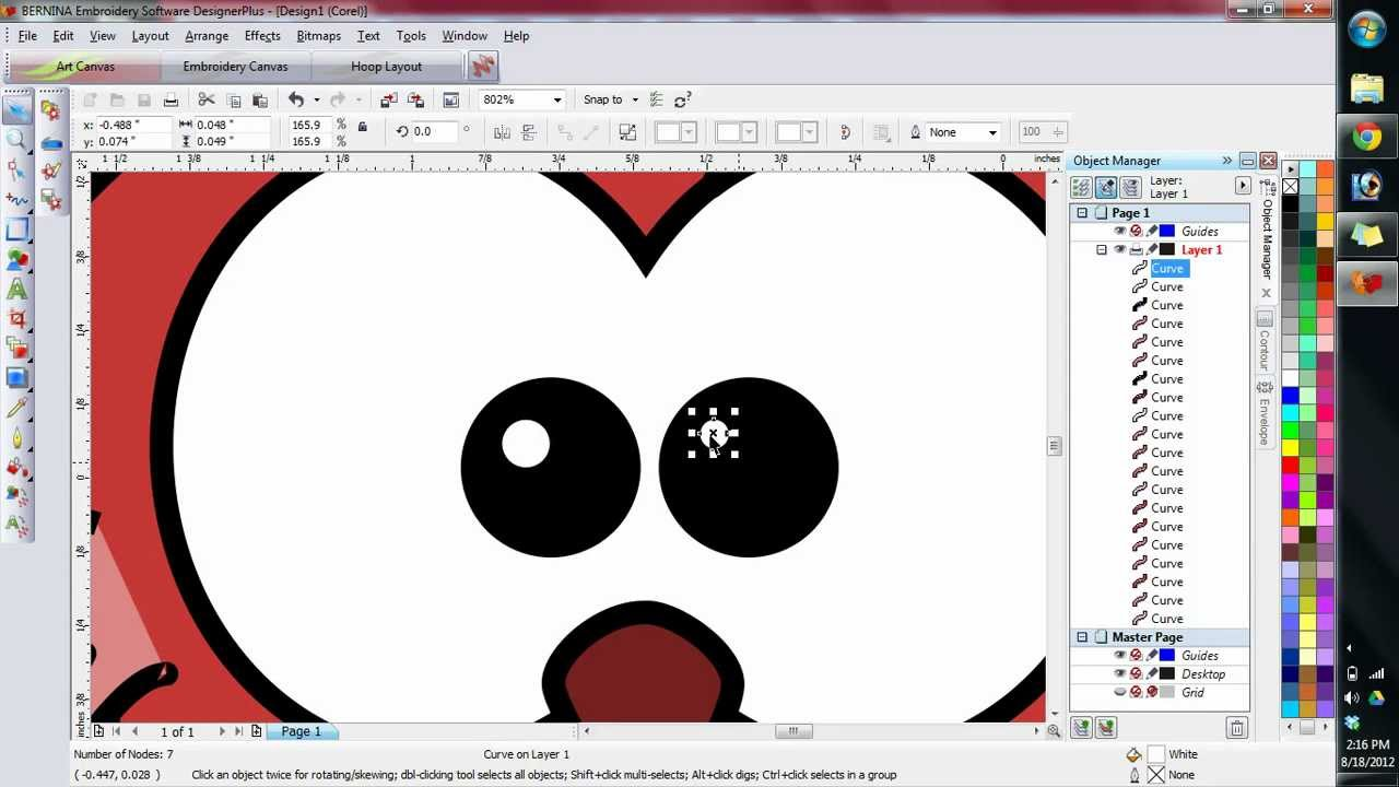 Line Art Converter Software : Import vector into bernina v6 and converting to embroidery auto