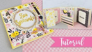 Mini Album Flip Book Flowers - DIY easy Flipbook