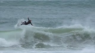 Surfing Legend Kelly Slater Performs 540 at Peniche, Portugal