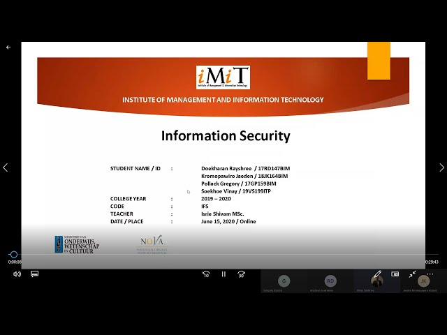 PREVIEW INFORMATION SECURITY DEMO-4 @ IMIT