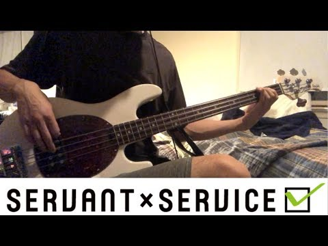 Servant X Service OP - May I Help You? Bass Cover + Tabs